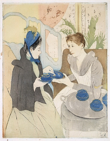 Afternoon Tea Party by Mary Cassatt from the Saint Louis Art Museum